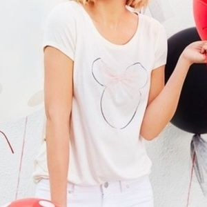 LC Lauren Conrad Disney Minnie Mouse Tulle Bow Top